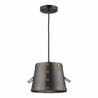 ELK Ephrata 1 Light Pendant in Weathered Iron EK-14300-1