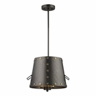 ELK Ephrata 3 Light Pendant in Weathered Iron EK-14301-3