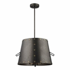 ELK Ephrata 3 Light Pendant in Weathered Iron EK-14302-3