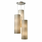 ELK Fabric Cylinder 12-Light Round Pendant in Satin Nickel EK-20160-12R