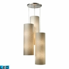 ELK Fabric Cylinder 12-Light Round Pendant in Satin Nickel - Led EK-20160-12R-LED