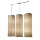 ELK Fabric Cylinder 12-Lightlinear Pendant in Satin Nickel EK-20160-12L