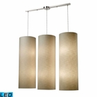 ELK Fabric Cylinder 12-Lightlinear Pendant in Satin Nickel - Led EK-20160-12L-LED