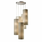 ELK Fabric Cylinder 20-Light Round Pendant in Satin Nickel EK-20160-20R