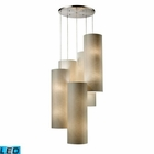 ELK Fabric Cylinder 20-Light Round Pendant in Satin Nickel - Led EK-20160-20R-LED
