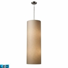 ELK Fabric Cylinder 4-Light Pendant in Satin Nickel - Led EK-20160-4-LED