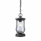 ELK Farmstead 1-Light Outdoor Pendant in Matte Black EK-43017-1