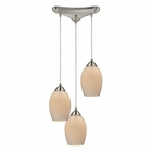 ELK Favela 3 Light Pendant in Satin Nickel EK-10222-3COC