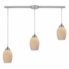 ELK Favela 3 Light Pendant in Satin Nickel EK-10222-3L-COC