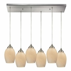 ELK Favela 6 Light Pendant in Satin Nickel EK-10222-6RC-COC