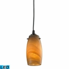 ELK Favelita 1 Light Led 300 Lumen Pendant in Satin Nickel - Led EK-10223-1MEL-LED