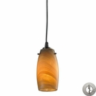ELK Favelita 1 Light Pendant in Satin Nickel With Adapter Kit EK-10223-1MEL-LA
