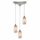 ELK Favelita 3 Light Pendant in Satin Nickel EK-10223-3COC