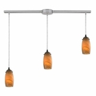 ELK Favelita 3 Light Pendant in Satin Nickel EK-10223-3L-MEL