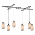 ELK Favelita 6 Light Pendant in Satin Nickel EK-10223-6COC