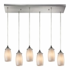 ELK Favelita 6 Light Pendant in Satin Nickel EK-10223-6RC-COC