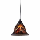 ELK Firestorm 1-Light Pendant in Dark Rust EK-10144-1FS