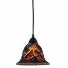 ELK Firestorm 1-Light Pendant in Dark Rust - Led EK-10144-1FS-LED
