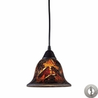 ELK Firestorm 1-Light Pendant in Dark Rust With Adapter Kit EK-10144-1FS-LA