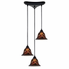 ELK Firestorm 3-Light Pendant in Dark Rust EK-10144-3FS