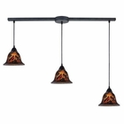 ELK Firestorm 3-Light Pendant in Dark Rust EK-10144-3L-FS
