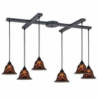 ELK Firestorm 6-Light Pendant in Satin Nickel EK-10144-6FS