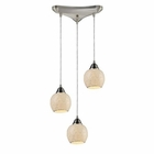 ELK Fission 3-Light Cloud Pendant in Satin Nickel EK-10208-3CLD