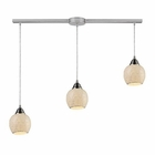 ELK Fission 3-Light Linear  Cloud Pendant in Satin Nickel EK-10208-3L-CLD