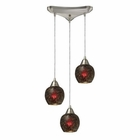 ELK Fission 3-Light Wine Pendant in Satin Nickel EK-10208-3WN