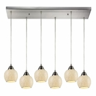 ELK Fission 6 Light Pendant in Satin Nickel EK-10208-6RC-CLD