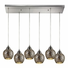 ELK Fission 6 Light Pendant in Satin Nickel EK-10208-6RC-SLV