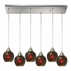 ELK Fission 6 Light Pendant in Satin Nickel EK-10208-6RC-WN