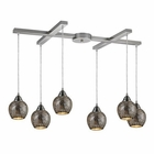 ELK Fission 6-Light Silver Pendant in Satin Nickel EK-10208-6SLV