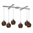 ELK Fission 6-Light Wine Pendant in Satin Nickel EK-10208-6WN