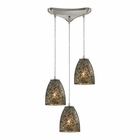 ELK Fissure 3 Light Pendant in Satin Nickel EK-10465-3BRF