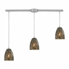 ELK Fissure 3 Light Pendant in Satin Nickel EK-10465-3L-BRF