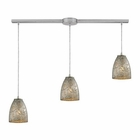 ELK Fissure 3 Light Pendant in Satin Nickel EK-10465-3L-SVF