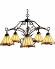 ELK Five Light Chandelier Grape Trellis EK-035