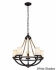 ELK Five Light Chandelier Natural Rope EK-63015