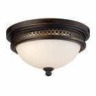 ELK Flush Mount 2-Light in Deep Rust EK-20100-2
