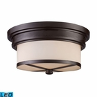 ELK Flush Mount 2 Light in - Led EK-15025-2-LED