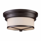 ELK Flush Mount 2-Light in Oiled Bronze EK-15025-2