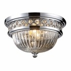 ELK Flush Mount 2-Light in Polished Chrome EK-11225-2