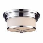 ELK Flush Mount 2-Light in Polished Chrome EK-15015-2