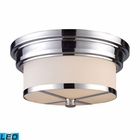 ELK Flush Mount 2 Light in Polished Chrome - Led EK-15015-2-LED