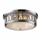 ELK Flush Mount 3-Light in Polished Chrome EK-11227-3