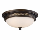 ELK Flush Mount 3-Lights in Deep Rust EK-20101-3