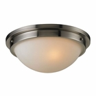ELK Flushmounts 2 Light Flushmount in Brushed Nickel EK-11440-2
