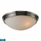 ELK Flushmounts 2 Light Flushmount in Brushed Nickel - Led EK-11441-2-LED