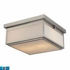 ELK Flushmounts 2 Light Flushmount in Brushed Nickel - Led EK-11464-2-LED